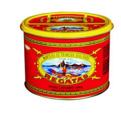 Manteiga 1ª qualidade c/sal 500 gr - Lata