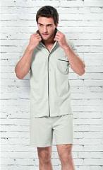 Pijama Masculino Fits Well M Cinza