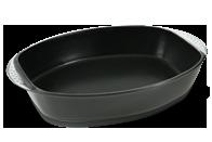 Assadeira oval grande preta