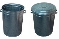 Latão em aço galvanizado com tampa