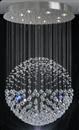 Lustre de cristal redondo em forma de bola