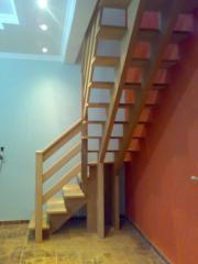 Escada Peroba Estruturada 2 Vigas Centrais