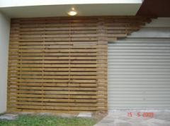 Revestimento - Fachada em madeira