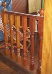 Balaustre em madeira