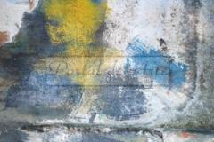 Abstrato - Azul e amarelo