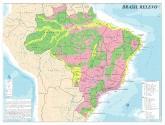 Mapa Brasil Divisões de Relevo