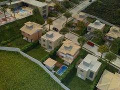 Maquetes de casas suburbanos