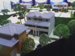Maquete de casas suburbanas