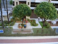 Maquete residencial suburbano
