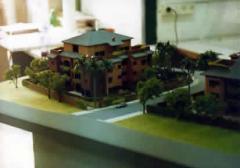 Maquete de casa suburbana