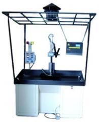 Máquina detectora de trincas vertical automática