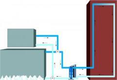 Montagem de sistema com chiller para climatizaçao