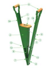Plantadeira manual (tipo matraca)