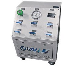 Painel de controle de pressão para gases