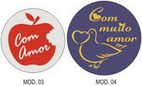 "Etiquetas Adesivas ""Com Amor"""