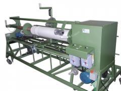 Desbobinadeira e rebobinadeira para corte de material em rolo