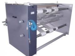 Desbobinadeira e rebobinadeira para abrir rolo de material