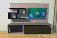 Estante e Home Theater