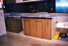 Gabinete cozinha padro fórmica madeira