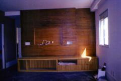 Home teater padrão madeira natural