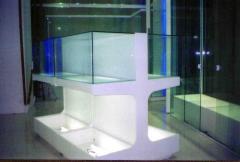 Balcão vitrine em fórmica Branca