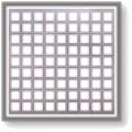 Chapa de furos quadrados