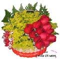 Caído por você e tango - Arranjo de Rosas Vermelhas