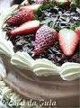 Bolo de Chocolate com Morango
