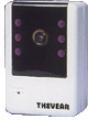 Sistema de câmera com gravação e sensor de alarme.