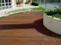 Deck de madeira de Garapeira com perfil antiderrapante