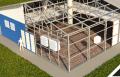 Complexos de produção para estruturas metálicas de montagem rápida