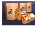 Fios trefilados, com diâmetro entre 0,20 e 7,00 mm (1), embalados em rolos de até 150 kg.