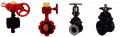 Conexões, válvulas e registros para tubulações de água e gás.