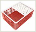 Gaiola para frango vivo dimensões: 33,0 x 77,0 x 57,4 cm (alt x larg x comp).
