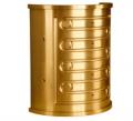 Capas de  bronze TM 23 - uma liga exclusiva com alto teor de chumbo (Pb).