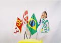 Produtos promocionais e institucionais - bandeiras, bandeirolas em varal, banners, faixas e bobinas para forração de gôndola.