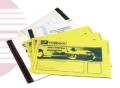 Envelopes de segurança - polietileno coextrudado, em 2 cores diferentes, nas partes interna e externa.