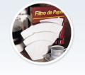 Papéis para filtros de café - indicado para filtragem alimentícia, com destaque para confecção de filtros descartáveis para café.