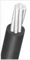 Cabos de alumínio cobertos em XLPE - classe de tensão 15kV - O cabo coberto em XLPE (15kV) é constituído por um condutor redondo compactado.