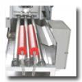 Máquina empilhadora de tampas