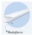 Acabamento tipo rodaforro - perfil recomendado para um arremate simples, proporcionando um acabamento perfeito entre o forro e a parede.