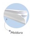 Acabamento tipo moldura - o  perfil moldura é recomendado para quem quer algo a mais no seu forro de P.V.C.