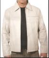 Kaban masculino em couro legítimo super macio, alta durabilidade, forrado e com botões revestidos em couro(zíper opcional).