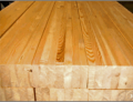 Vigas de madeira (pinus) duas ou três camadas: madeira fingada ou sólida colada lateralmente ou não, formando vigas resistentes, podendo ser utilizada estruturalmente pela construção civil.