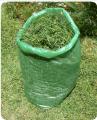 Saco plastico 100 litros para jardinagem.