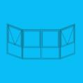 Janela Bay-window com folhas Maxim-ar