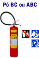 Extintores com carga de Pó, portateis e sobrerodas