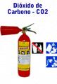 Extintores com carga de Dióxido de Carbono, portateis e sobre rodas
