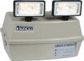 Bloco autônomo com dois projetores de 55 wats ideal para grandes áreas.