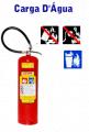 Extintores com carga D'Água